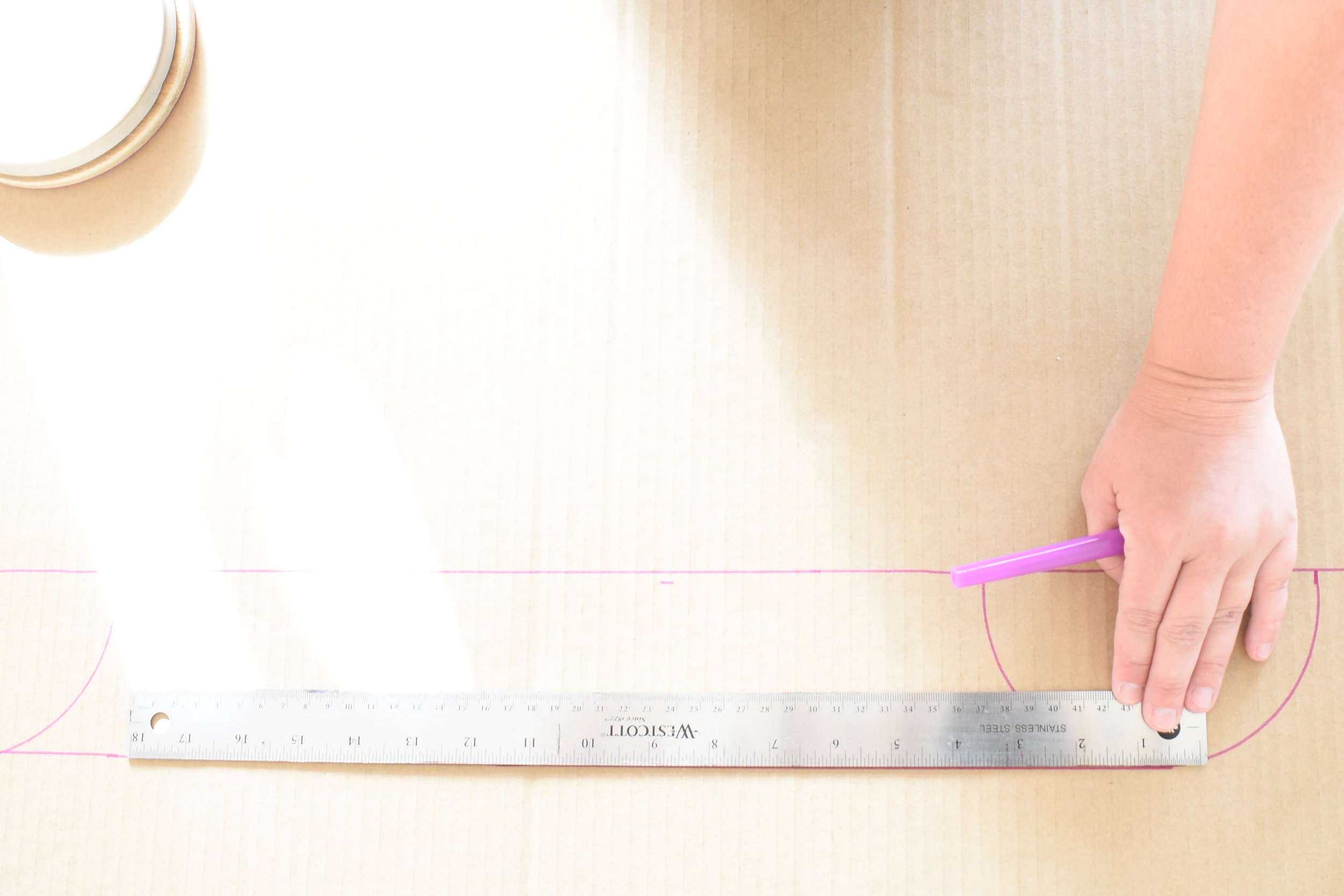 how to measure for an arch on your diy cornice board