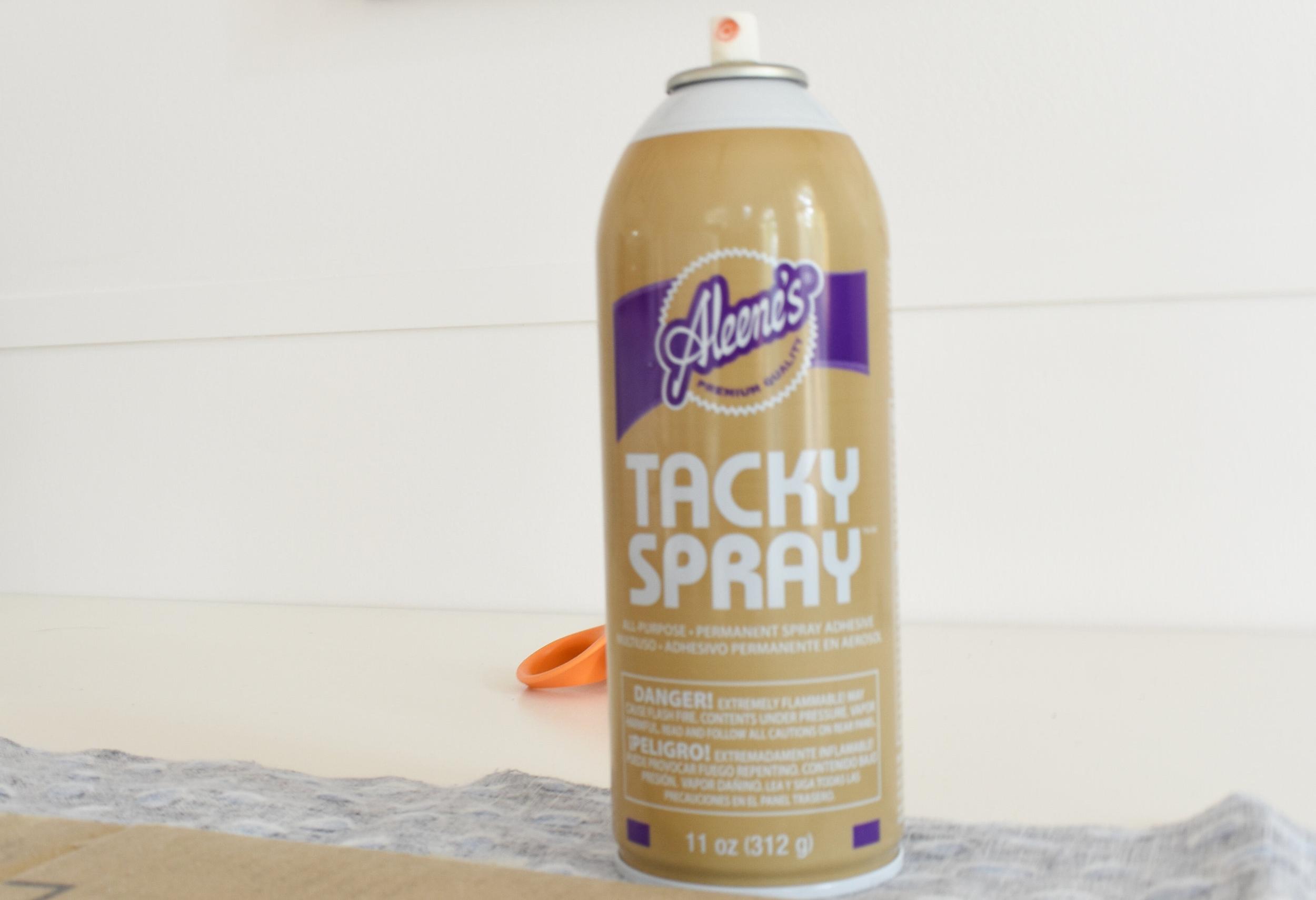Aleene's Tacky Spray for adhering fabric to cardboard