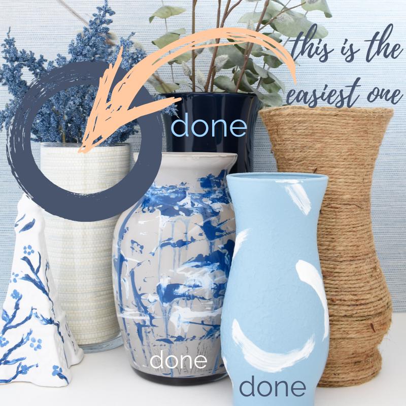DIY dollar store vases transformed