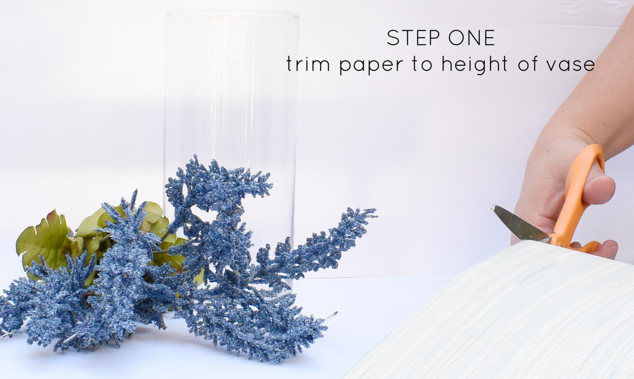 DIY grasscloth textured linen vase  - dollar store crafting