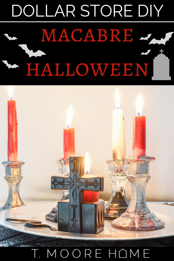 DIY HALLOWEEN CRAFTS - dollar store candle holders NOT from the halloween aisle