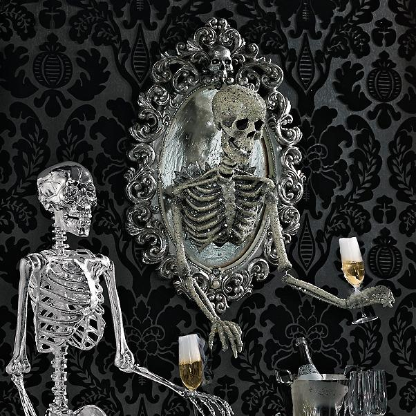 halloween decorations - I DIYed my own version of this skeleton bartender