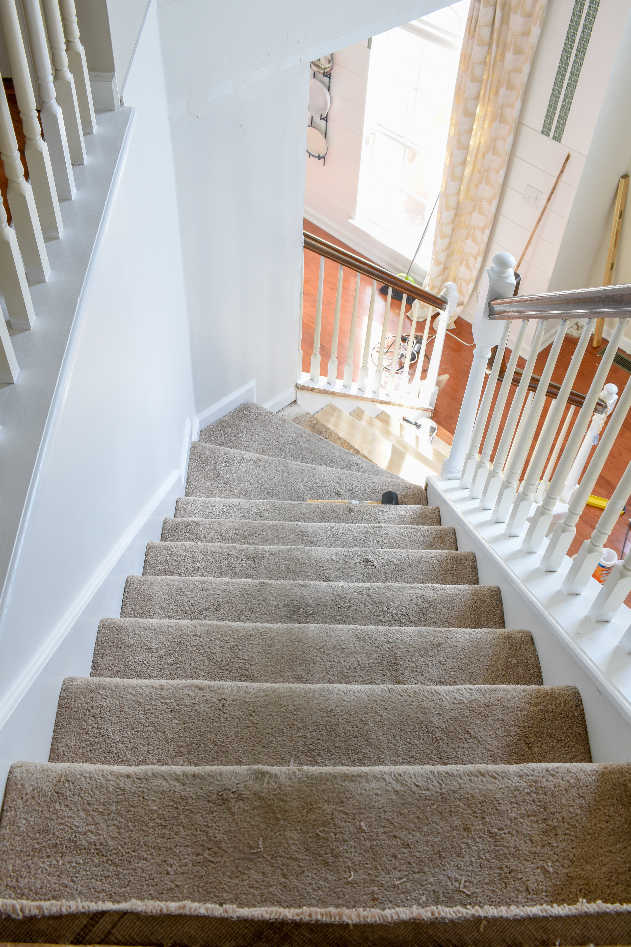 replacing carpeted stairs with hardwood