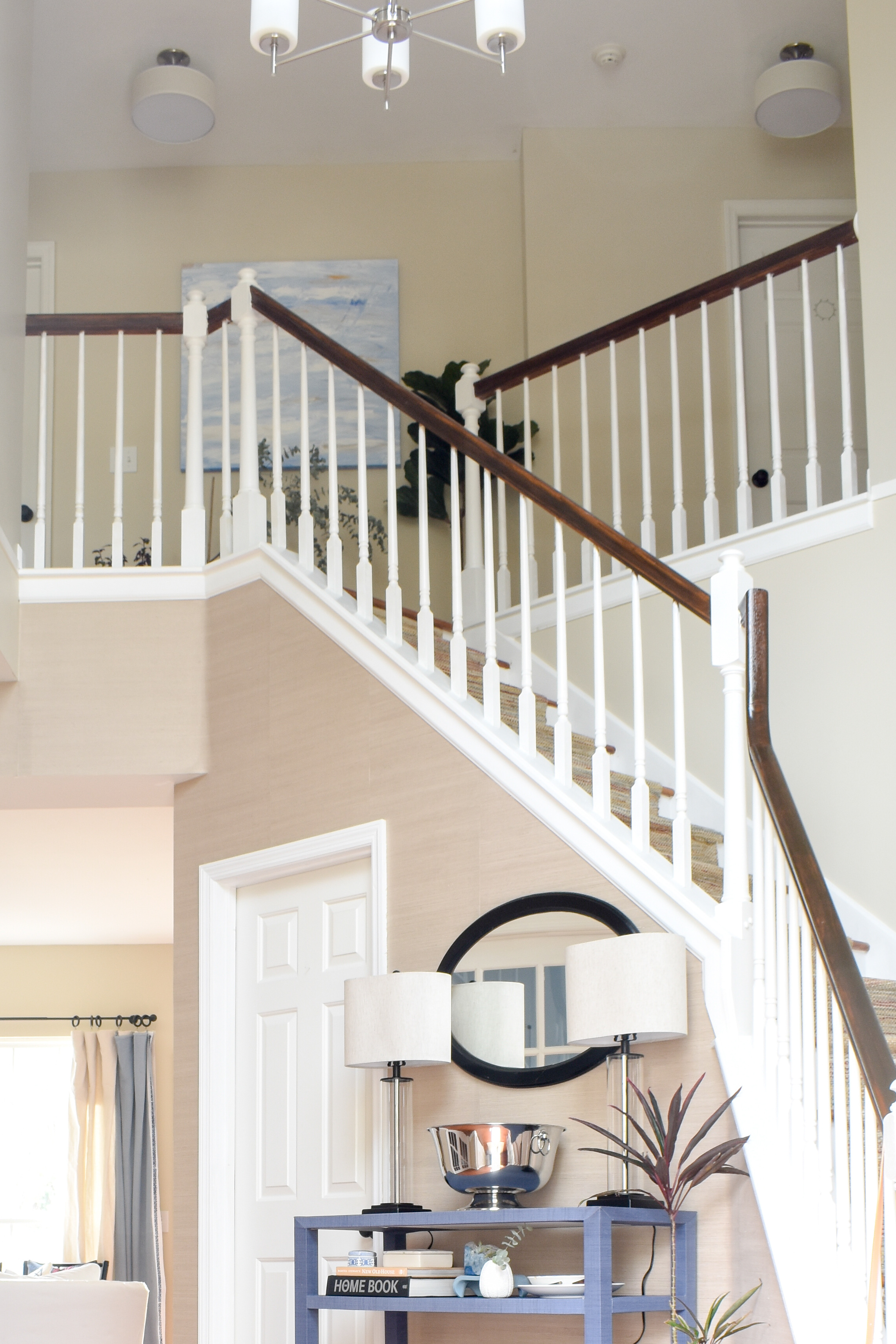 updated suburban entryway in a timeless design