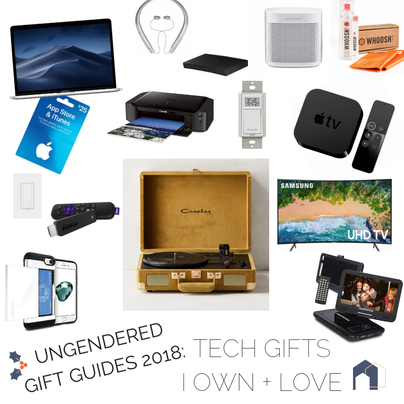 gifts for men and women who love technical products like TVs, music, games, office supplies, etc