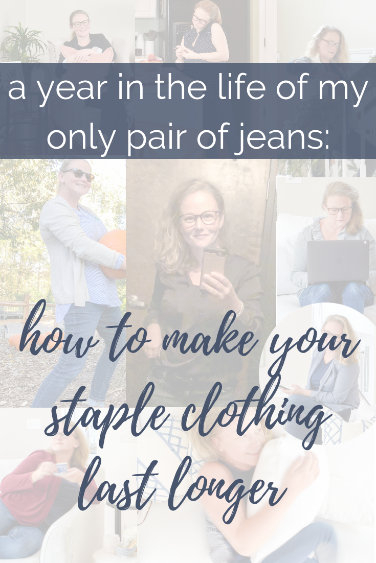 A YEAR IN THE LIFE OF MY ONLY PAIR OF JEANS | How I apply capsule wardrobe techniques to save money on clothes while still providing plenty of variety to my everyday looks