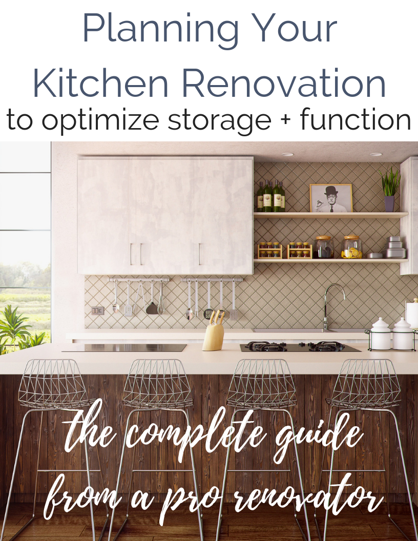 Planning Your Kitchen Renovation To Optimize Storage and Function | Before you even begin designing a layout or picking finishes, you need to consider the items that will be housed in those new, beautiful cabinets. #kitchens #kitchenremodel #diyrenovation #modernkitchens