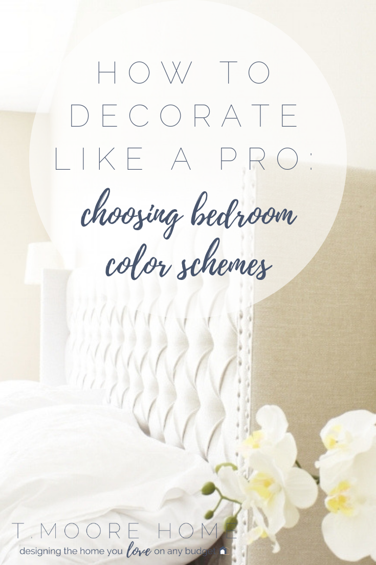 Master Bedroom Updates: How To Decorate a Boring Suburban Bedroom Step One - Choose Your Colors #bedroomideas