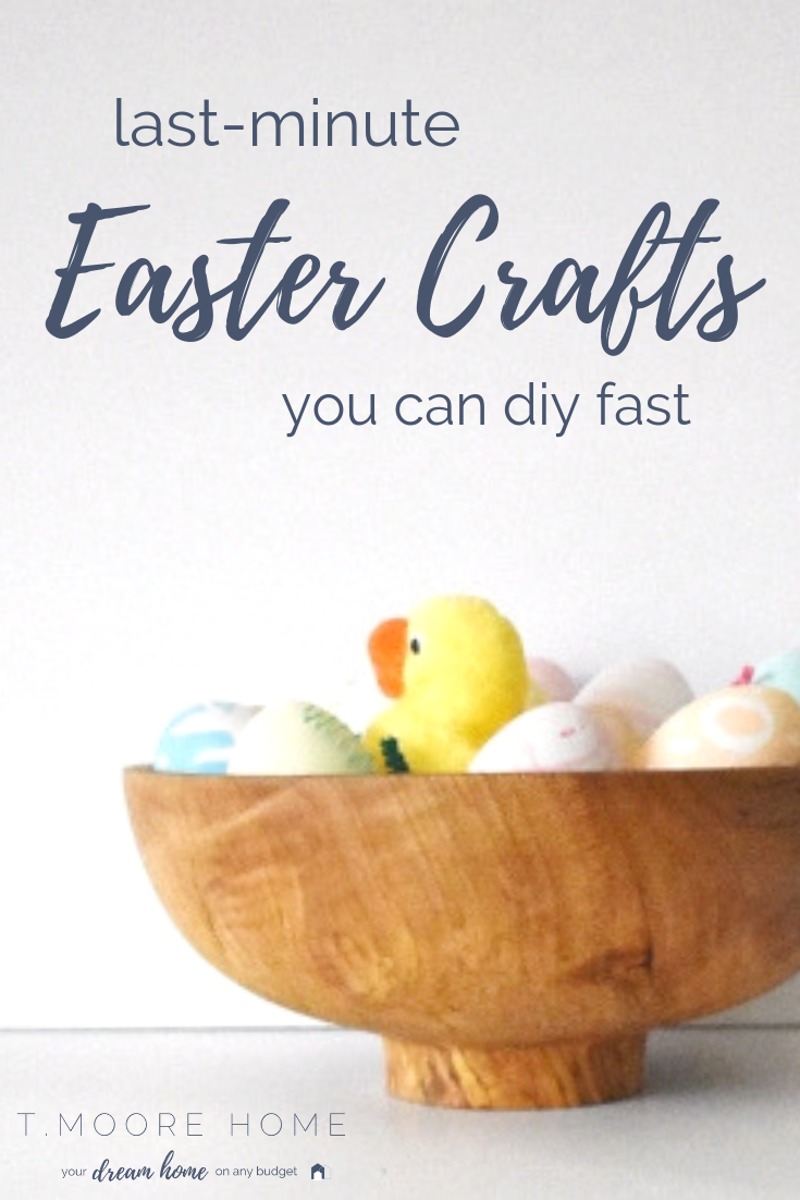 Easy Easter Crafts You Can DIY Fast | Look, being Martha is hard work. Between running a business, microwaving nightly dinners, and scrapinng mystery goo off the walls, who has time for that?! Here are some awesome projects you can complete in no time so your family doesn't realize you're totally phoning it in. PS. There's ice cream involved, so we all win! #spring #eastercrafts #diyeaster
