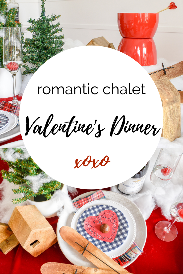 DIY Valentine's Day | A Romantic Ski Chalet: How To Re-Use Your Christmas Decor for Valentine's Day, - I wanted to go all out to show my family how much l love them, but let's be real. I barely have time to shower most weeks. #valentinesday #chaletstyle #romance