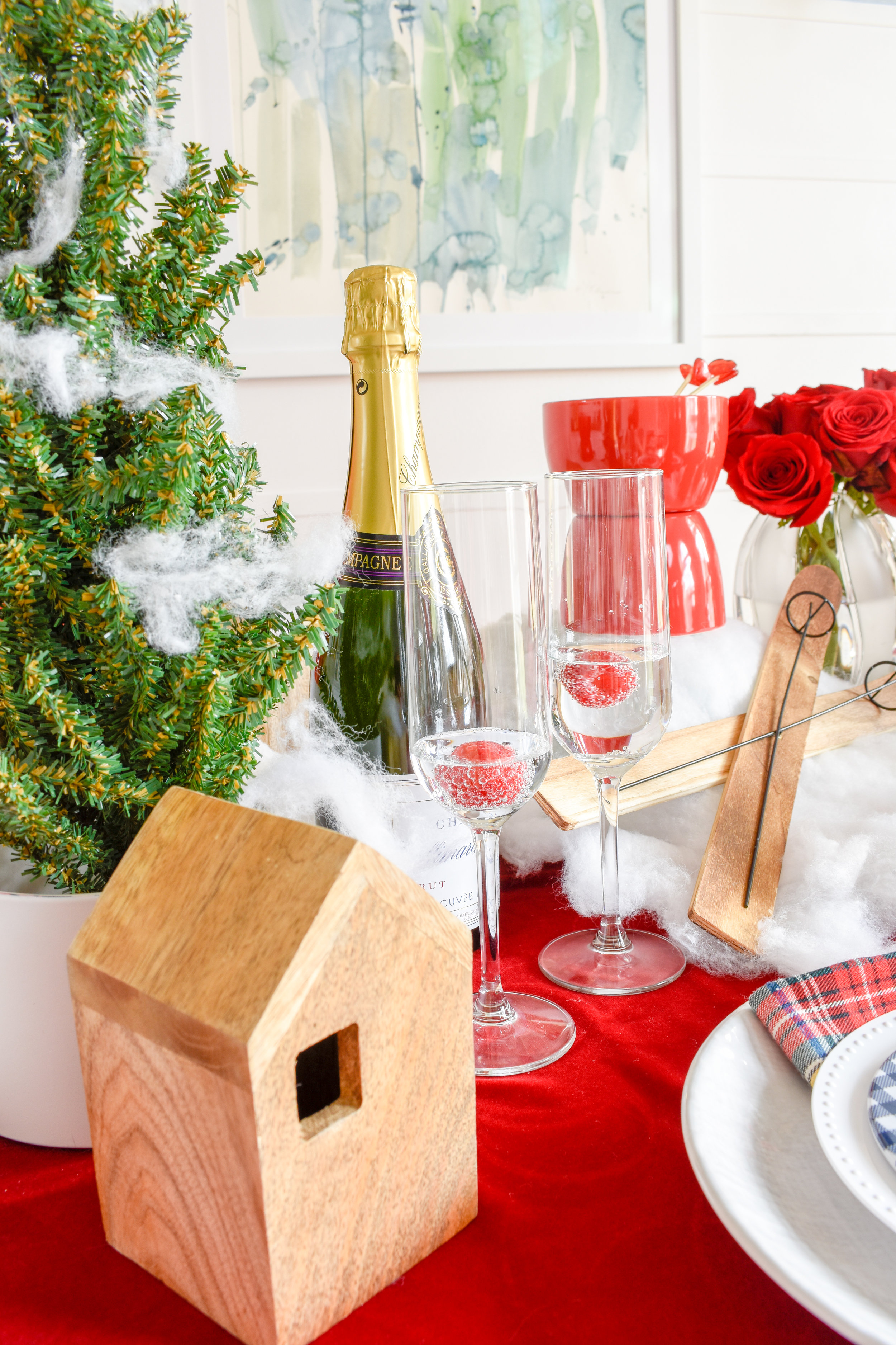 Galentine's Day Ideas | A Romantic Ski Chalet: How To Re-Use Your Christmas Decor for Valentine's Day  I've left my Christmas decor up a little longer and really stretched its life by transferring it into this adorable - and romantic - chalet tablescape. Today I'm showing you how I DIYed it and how you can too! #romance #valentinesday #bemine
