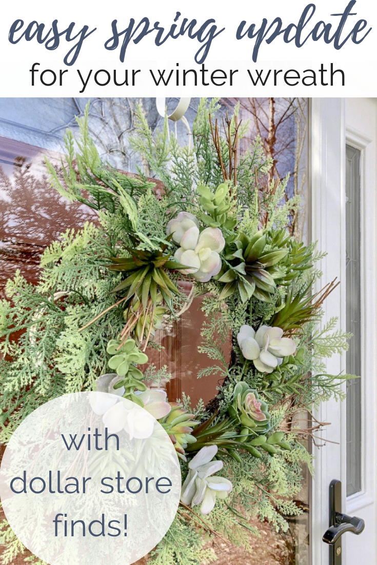Dollar Store Crafts | 5 Easy Ways To Use Faux Succulents: Essential oil infused hanging succulent globes, artificial succulent wreaths, and a surprising way to re-use your Christmas wreath all year long! #diycrafts #essentialoilrecipes #succulentdecor