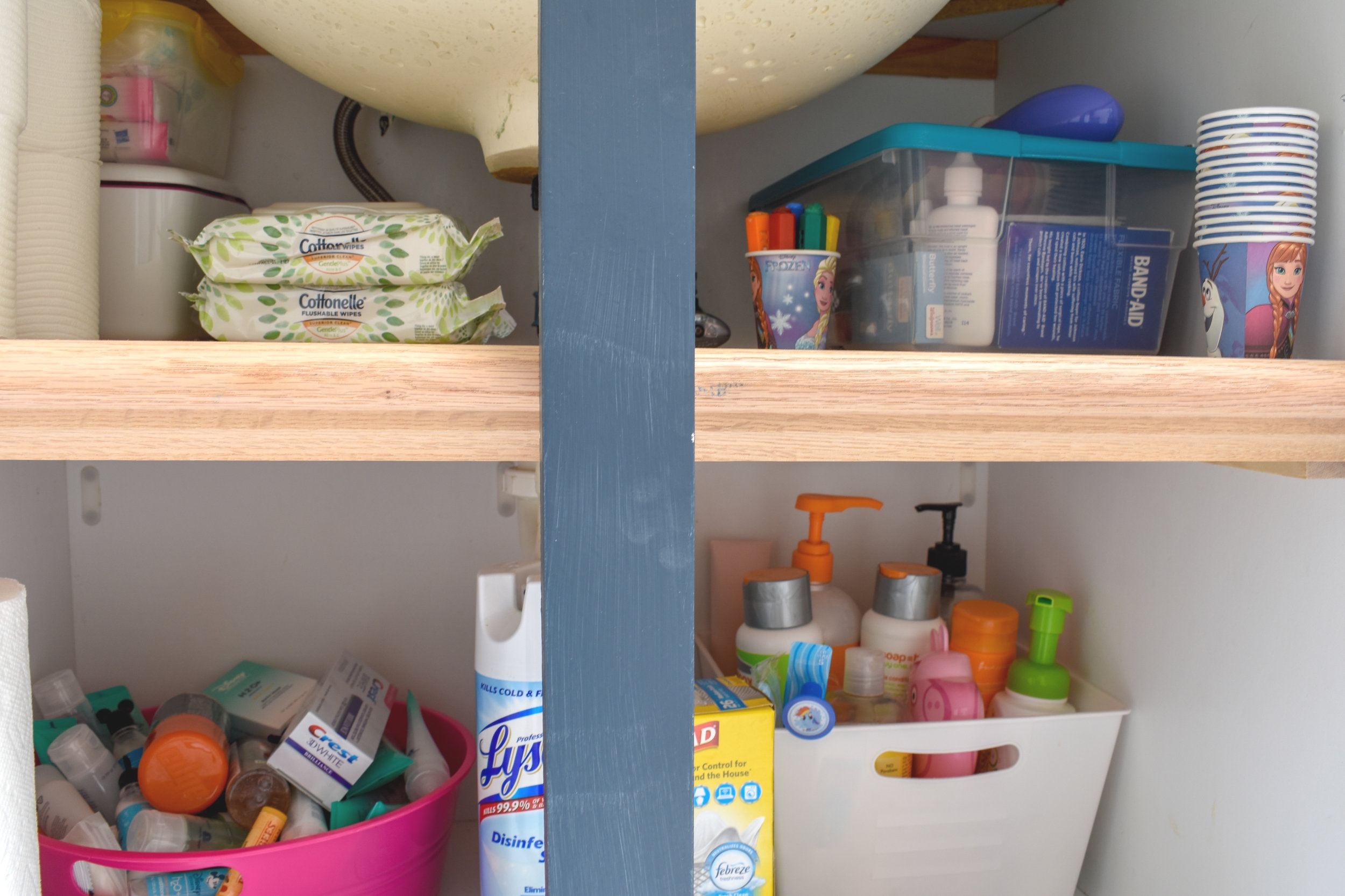 Bathroom Organizing Diy Under Cabinet