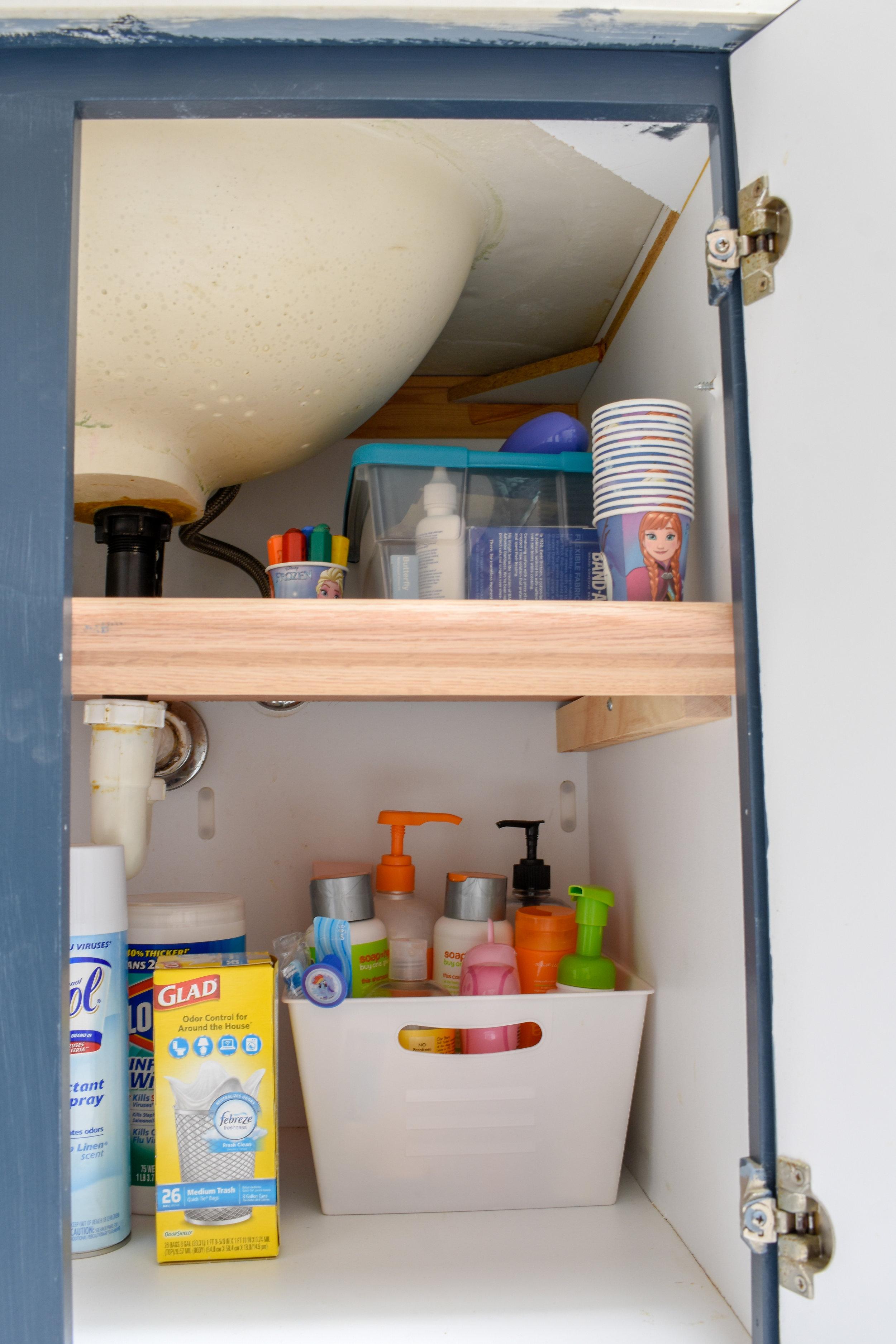 Bathroom Organizing Diy Under Cabinet Bathroom Storage T Moore Home Interior Design Studio