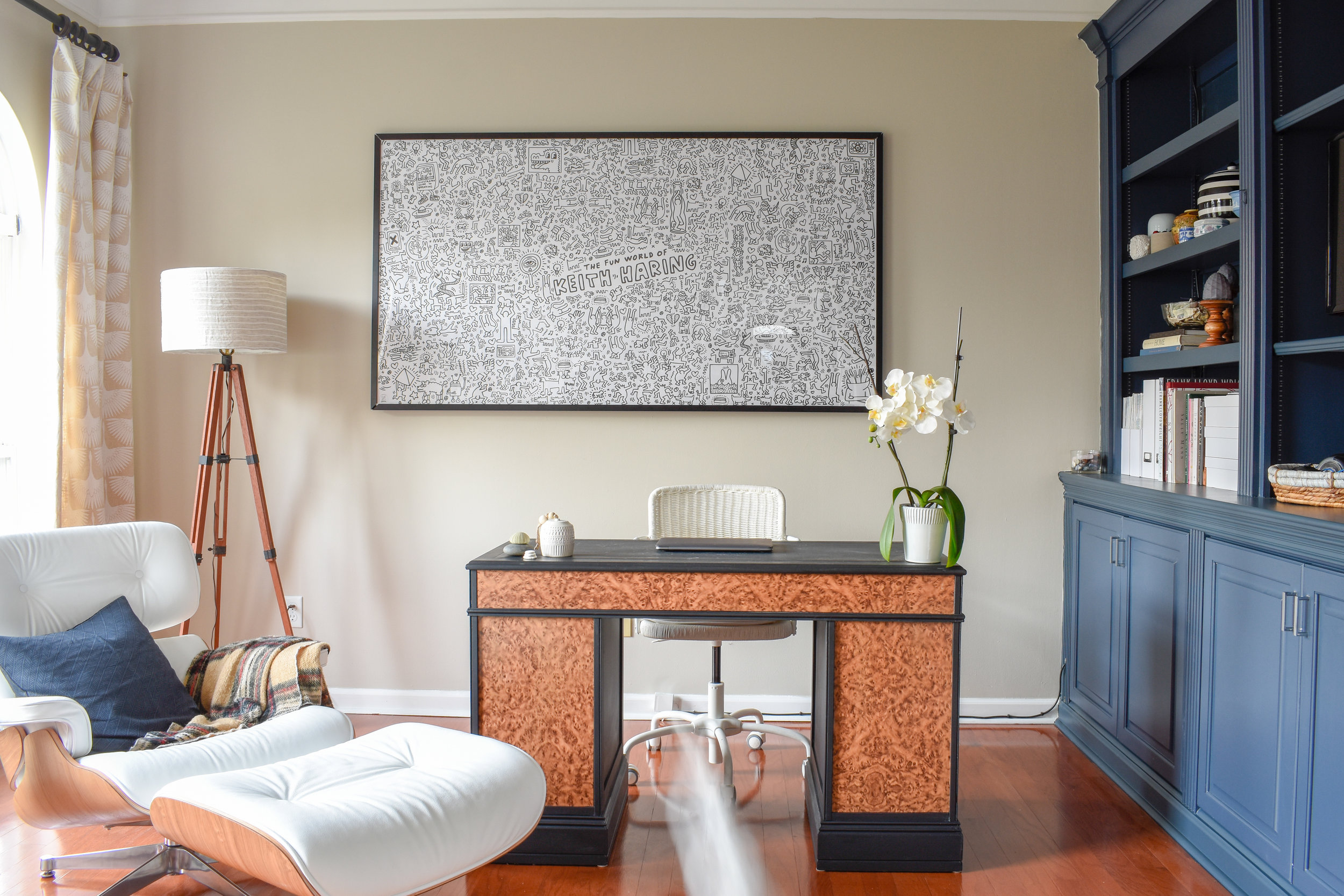 Shared Home Office Blending Decor Styles For A Space That Works Harmoniously T Moore Home Design Diy And Affordable Decorating Ideas