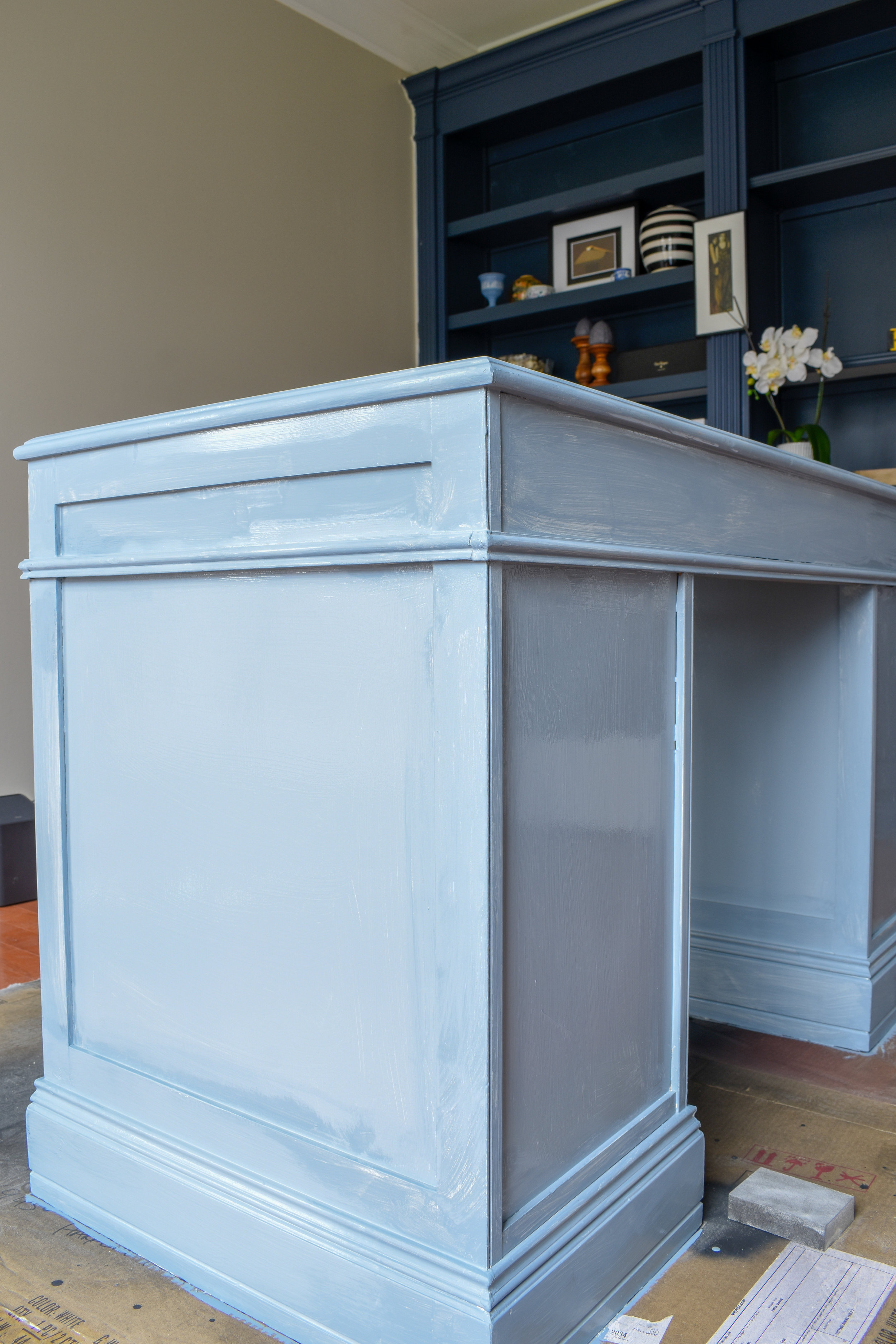 how to get a professional looking paint job on old furniture
