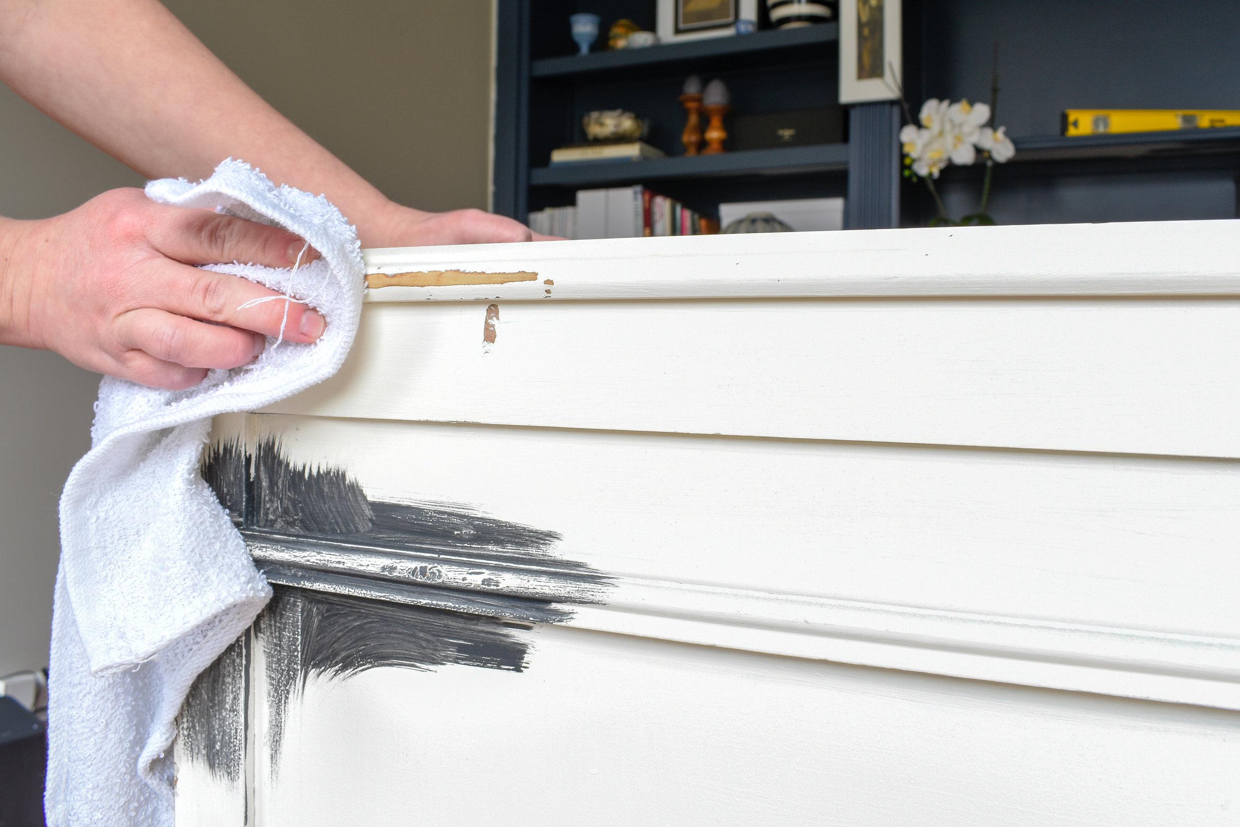 preparing furniture for chalk paint