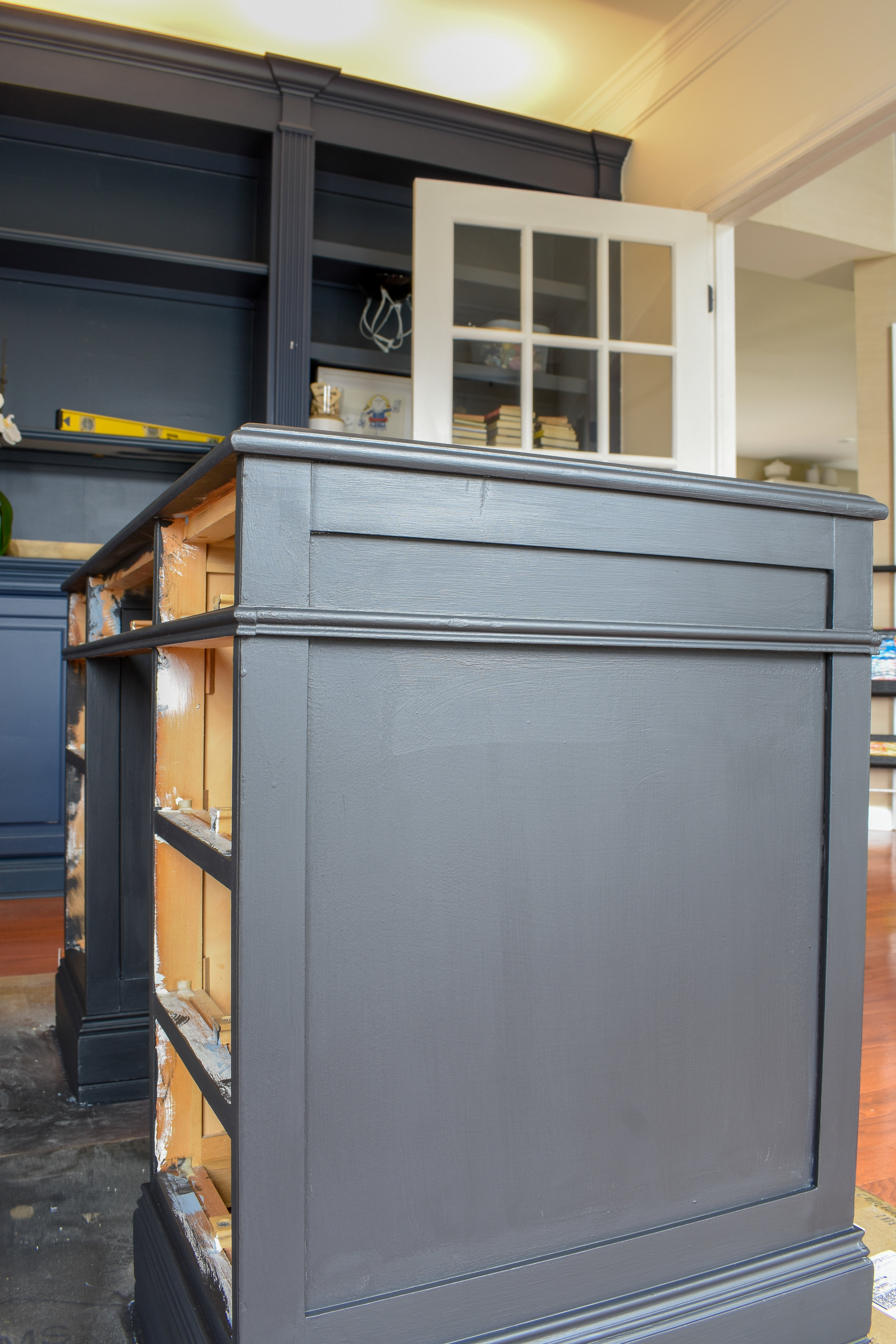 Chalk Paint Finish For Less: I used flat (or matte) black paint, sourced from my local home improvement store and tinted to my desired color.