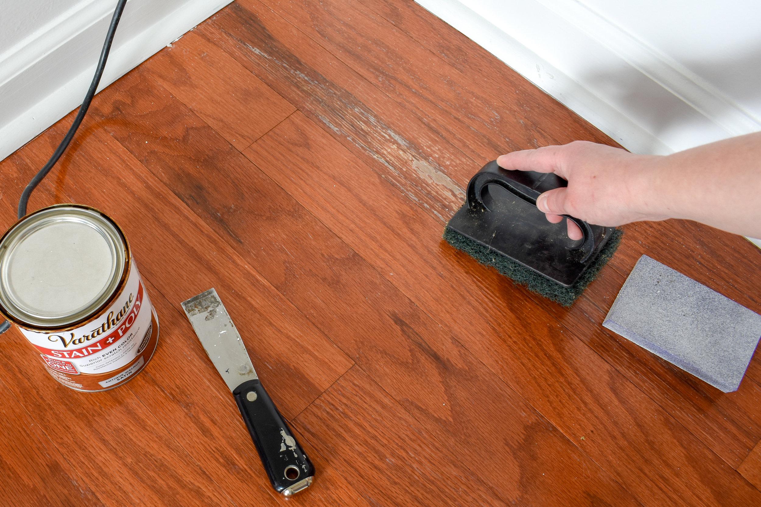 fixing moisture damage on the finish of hardwood floors
