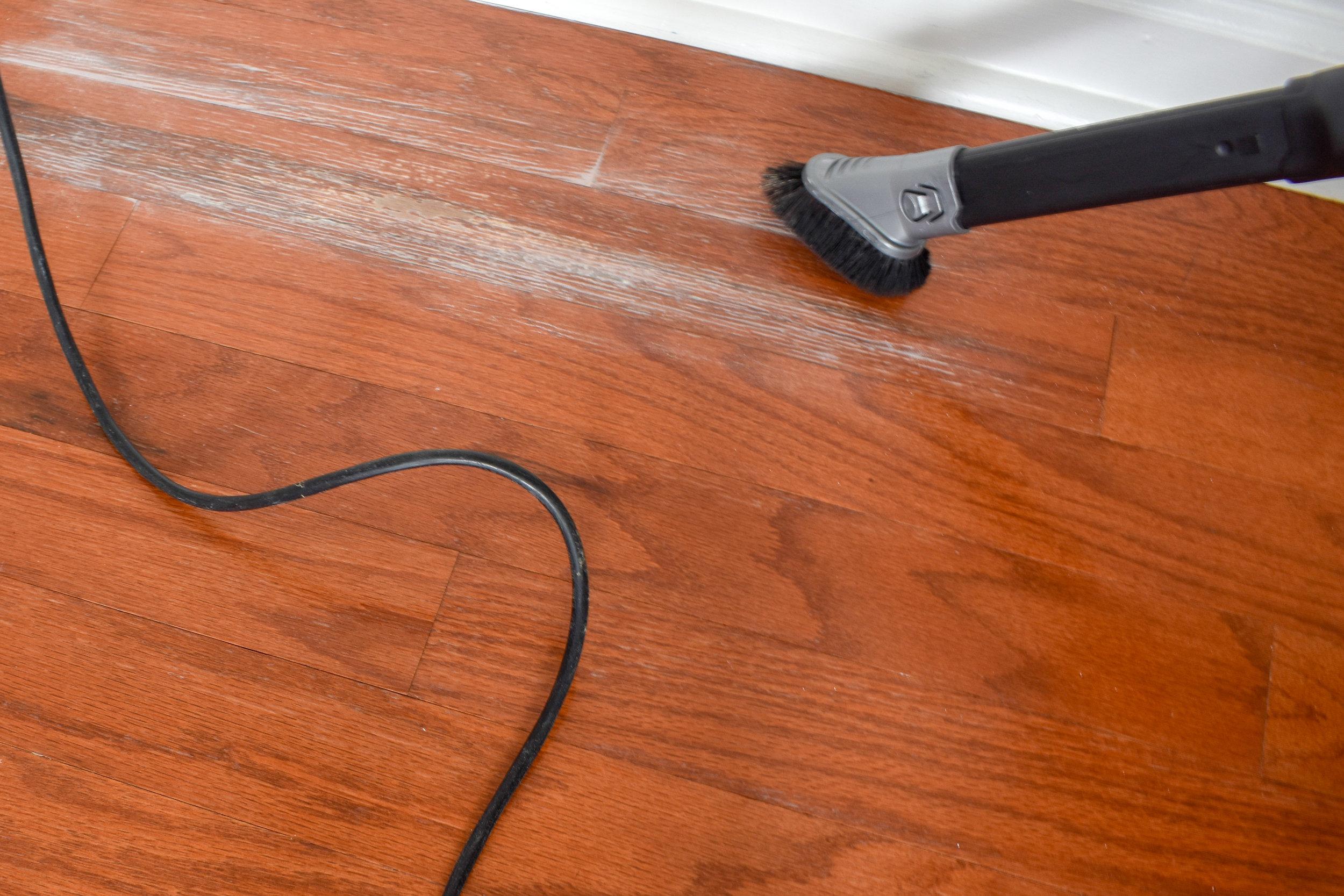 repairing moisture damage on wood floors