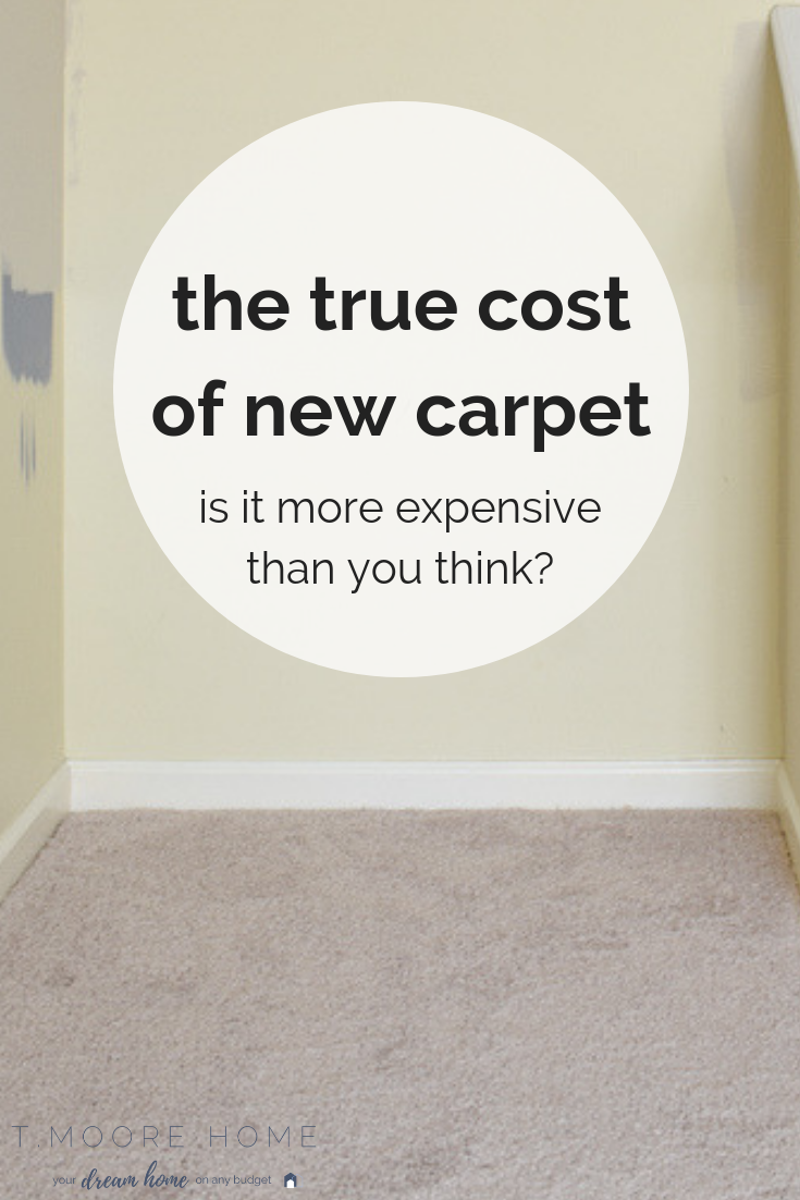 Considering replacing carpet? You may want to read this first. I was surprised to learn how expensive this notoriously least favorite flooring option really was.  #diyrenovations #carpetvshardwood