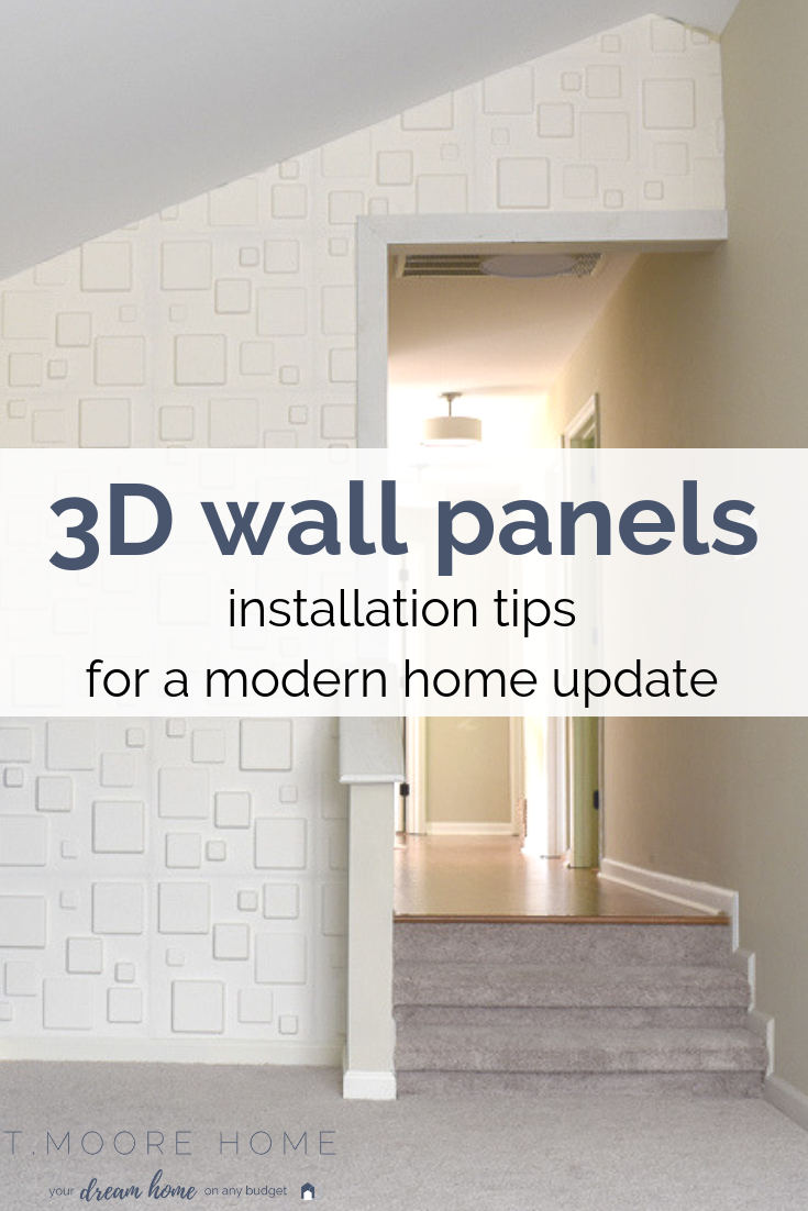 Modern Wall Panels: How to install 3D accent wall panels for a cool and eco-friendly home update
