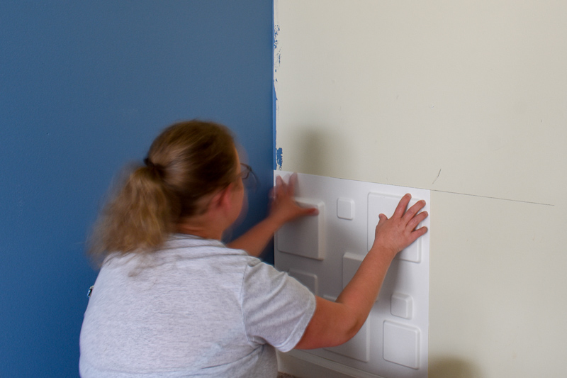 how to install dimensional wall panels