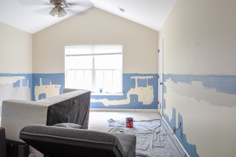 Color Block Accent Walls: Getting even paint lines