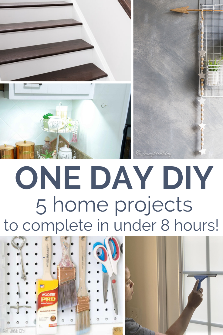 DIY HOME IMPROVEMENT  April was an awesome month for DIY bloggers to show off their best fast home project ideas! Today, I'm highlighting my top 5 favorite projects that make your home more polished super fast!