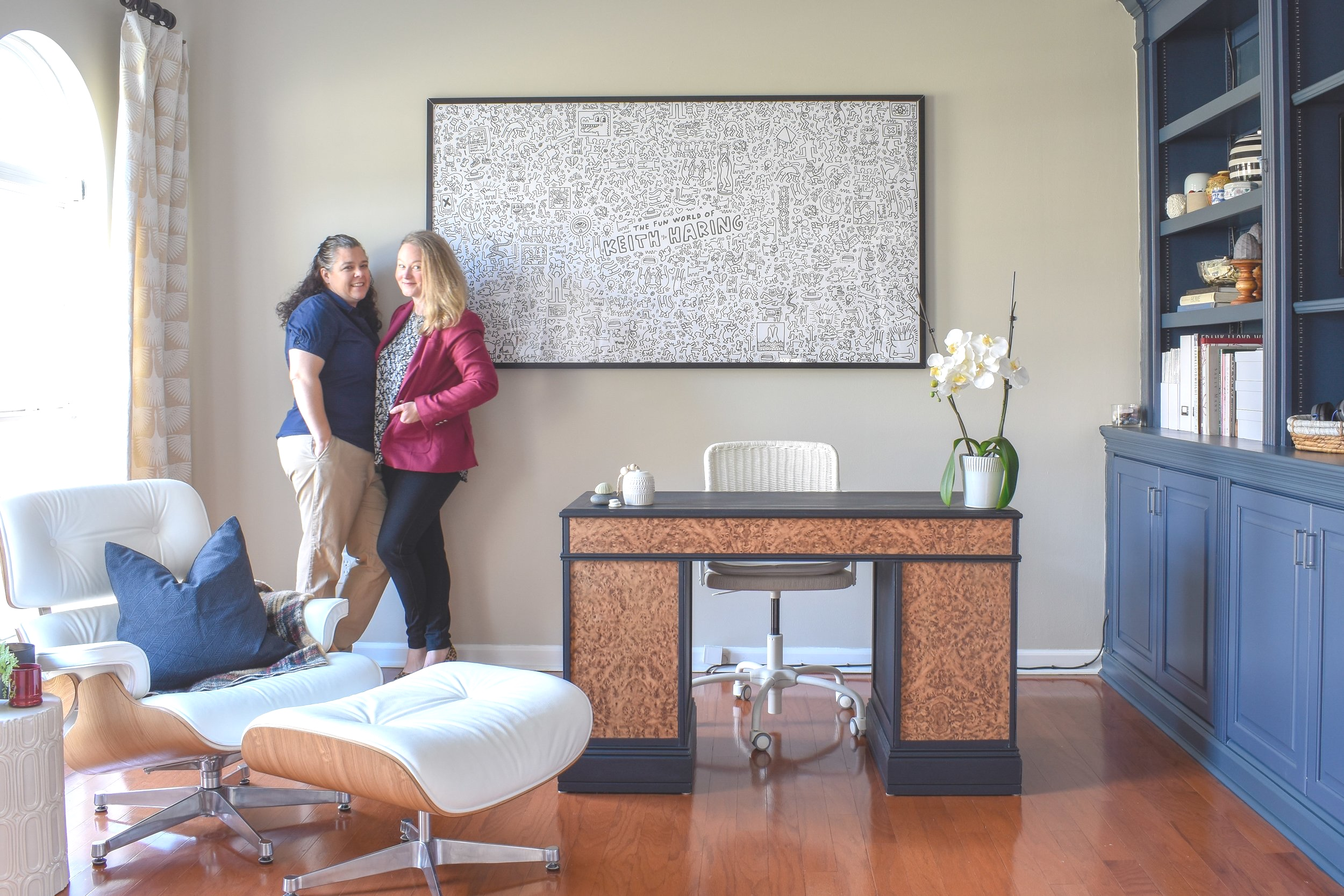 Shared Home Office: Blending our two decor styles for a space that works for a couple with different tastes