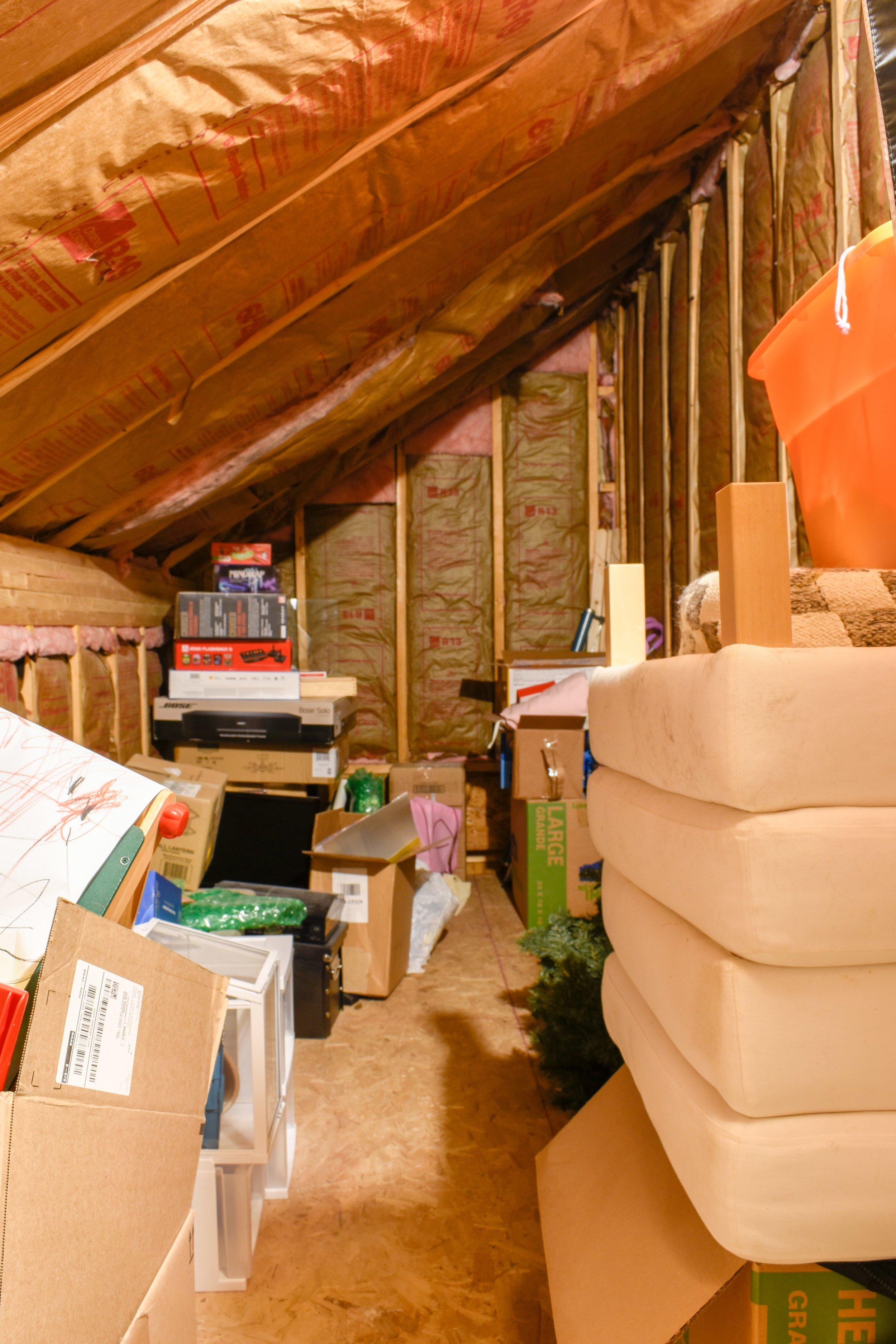 unused storage space in our bonus room
