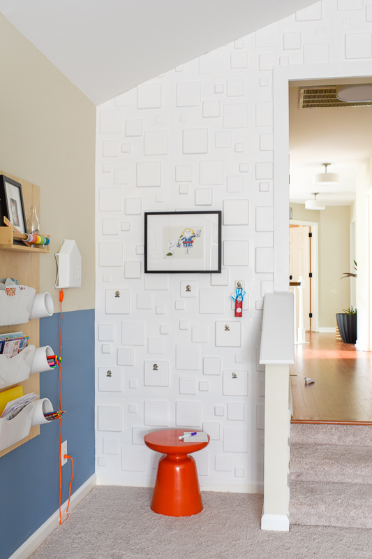 modern art space for a kid