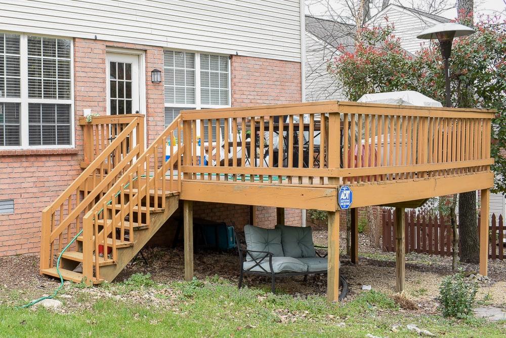 suburban back deck
