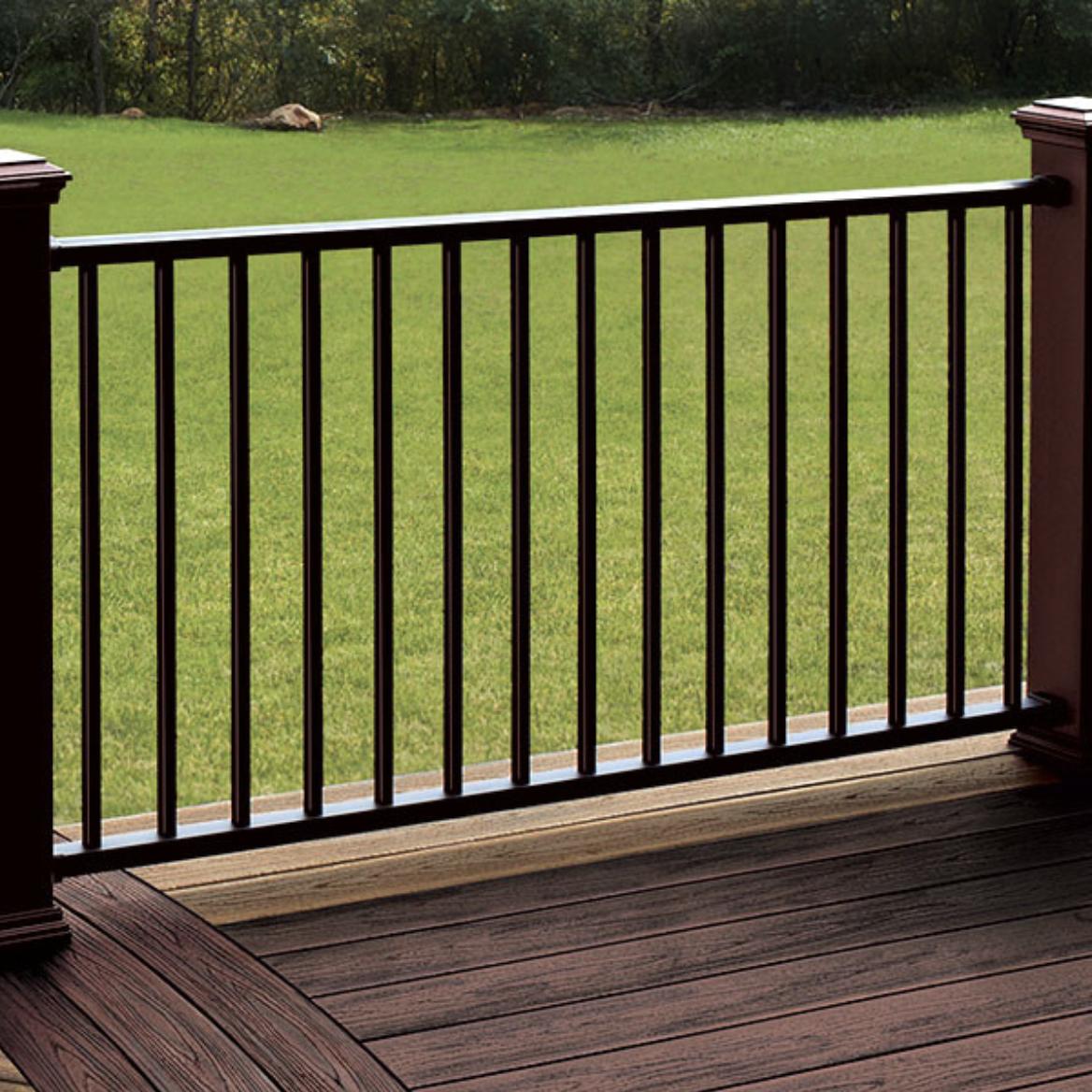 composite deck with aluminum railing