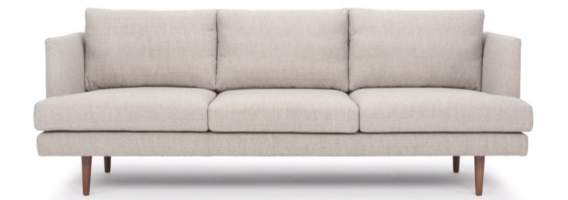 Memorial Day sofa sales - this modern sofa is deeply discounted this weekend