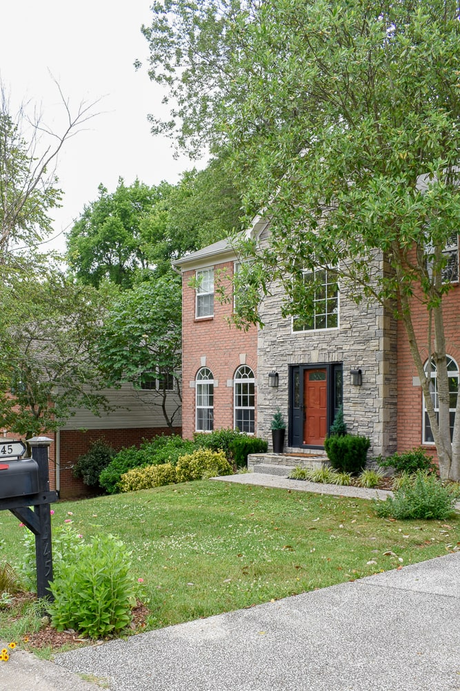 Home Exterior Inspiration - Brick and stone front of house