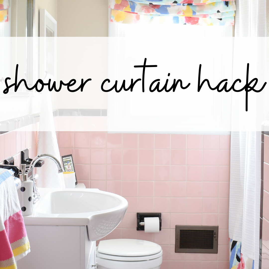 shower curtain hack