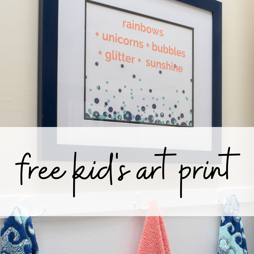 free kid's bathroom artwork printable
