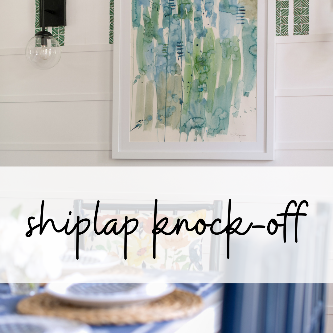shiplap knock-off tutorial
