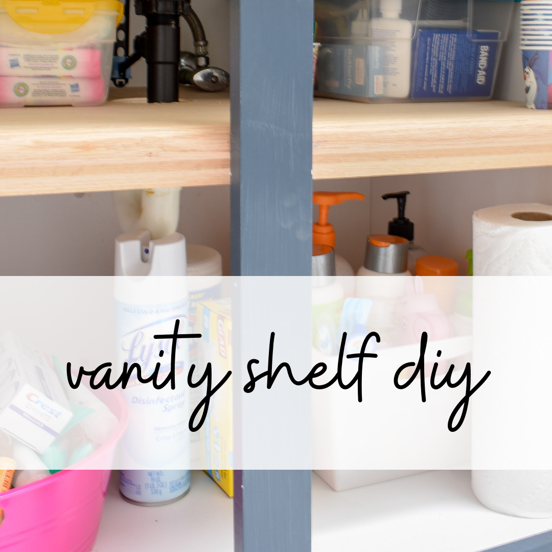 how to install a shelf in your bathroom vanity