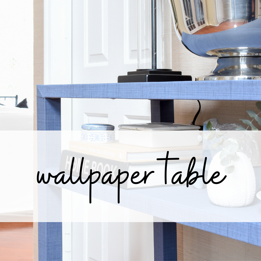 how to cover a table with wallpaper