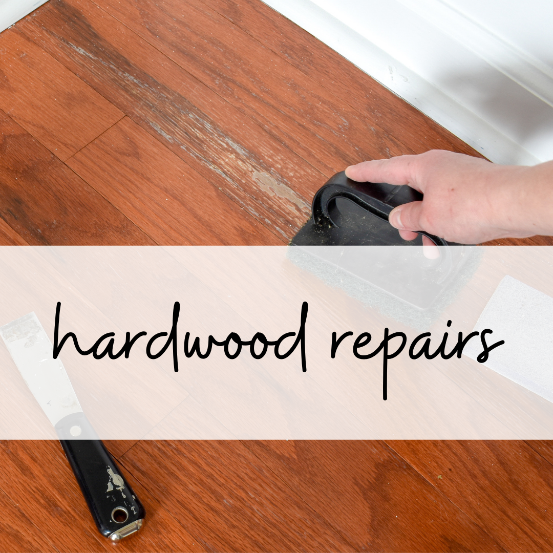 how to repair hardwood without refinishing