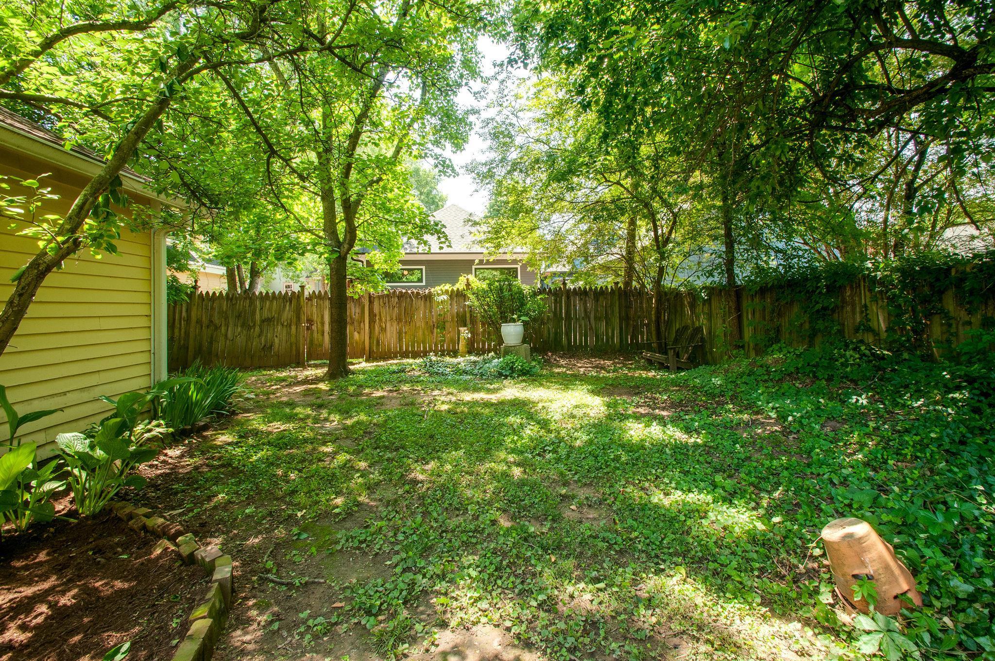 backyard garden area