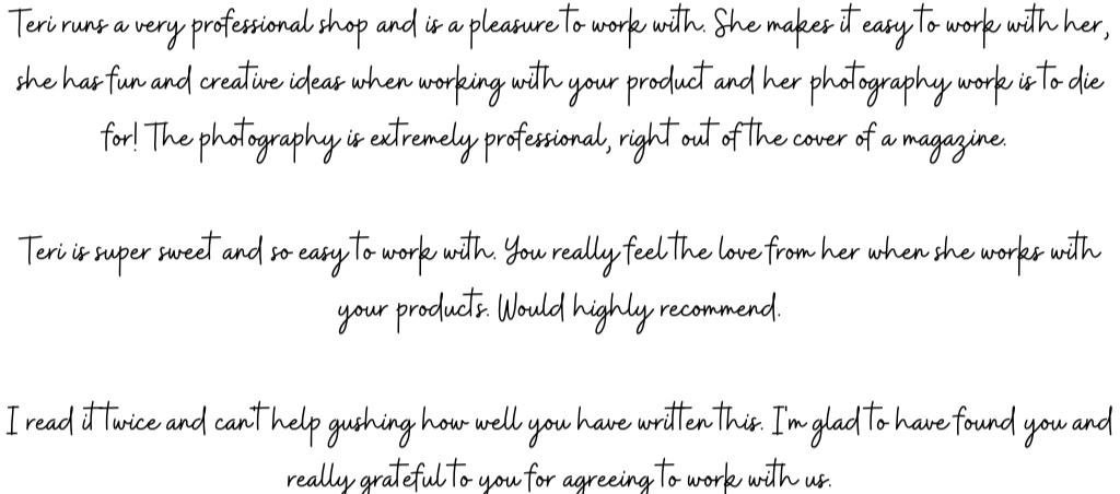 what our clients are saying about our brand ambassadorship