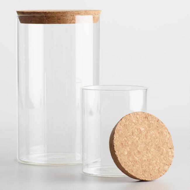 modern glass canister