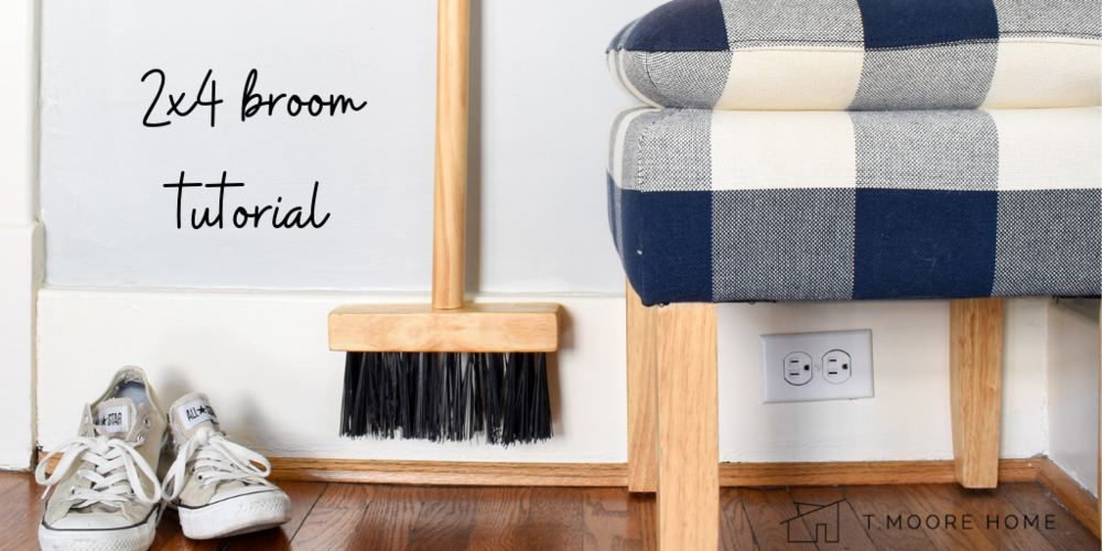 How to create a 2x4 broom that looks like a $150 wooden broom from a fancy designer . #2x4projects #diylifehacks #upcycledcrafts