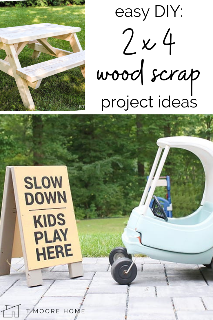 Easy 2x4 Projects: If you end up with a ton of leftover 2x4s after your home improvement projects, here's a list of really cool and professional looking ways you can use your scraps to create something useful for your home. From building patio furniture to a DIY broom, these tutorials will inspire you to clear out the garage and use up all those wood scraps! #diyhomedecor #diybuilding #2x4crafts #2x4projects #easydiy #patiofurniture #ibuiltthis #modernhomedecor #moderndecordiy #furnitureplans #buildingplans