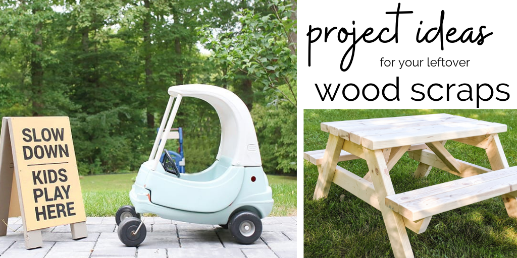 DIY crafts + home decor made from wood scraps! Clean out your garage and make something cool and functional for your home! These projects use minimal wood lengths and could cost as little as $5 to make! #diycrafts #woodworkingtutorials #diyhomedecor
