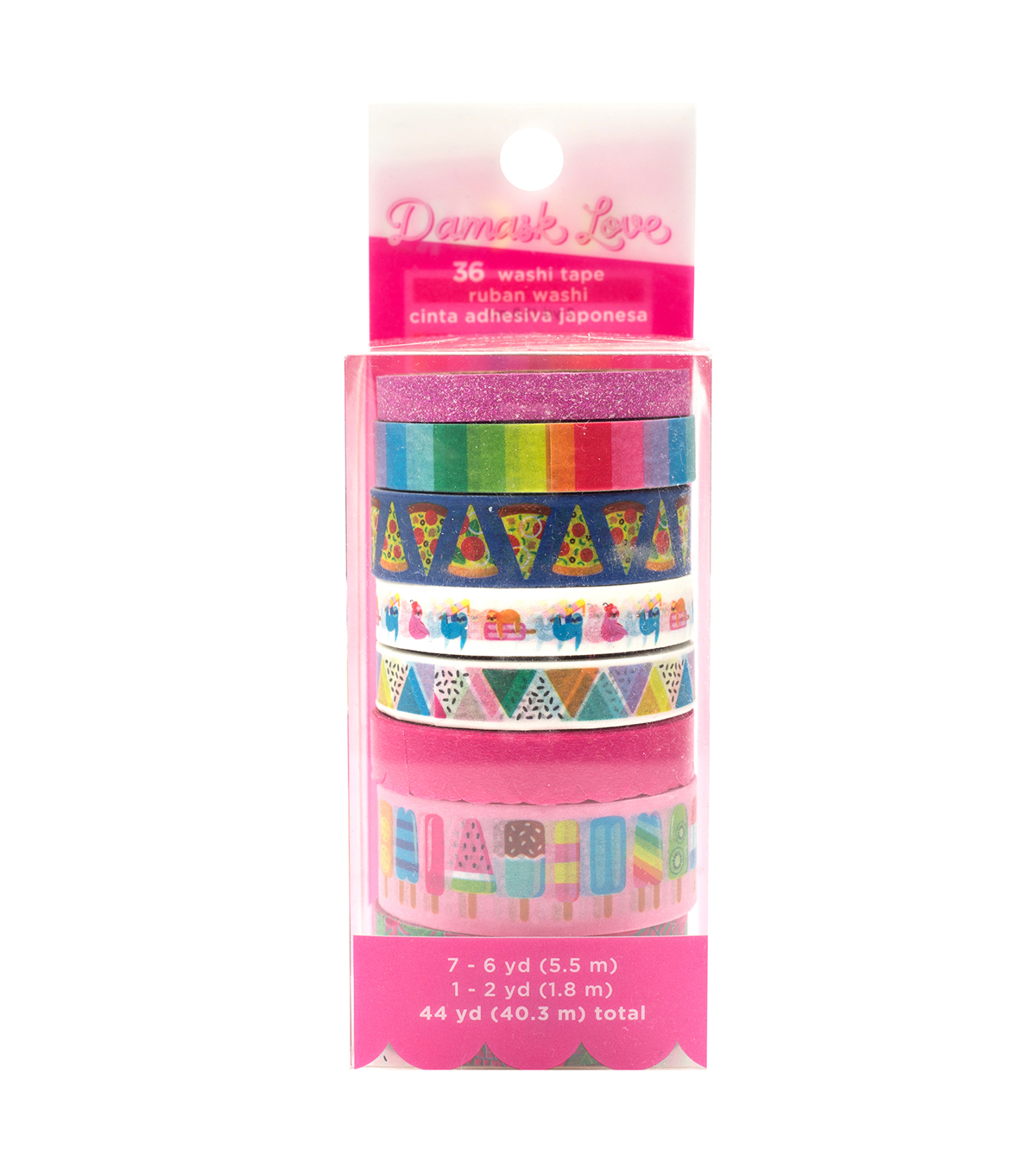 washi tape with rainbows