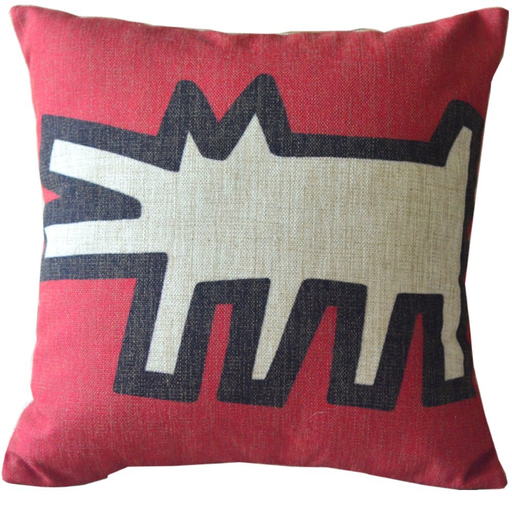Keith haring pillow cover
